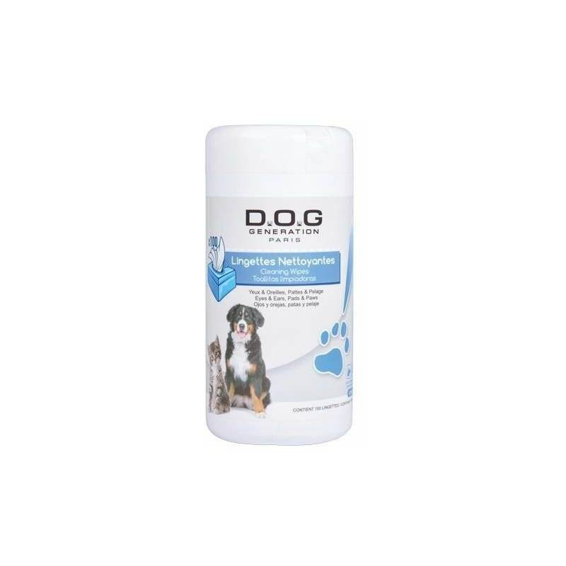 Chadog - Lingettes nettoyantes dog generation biodegradables x100 13*20cm