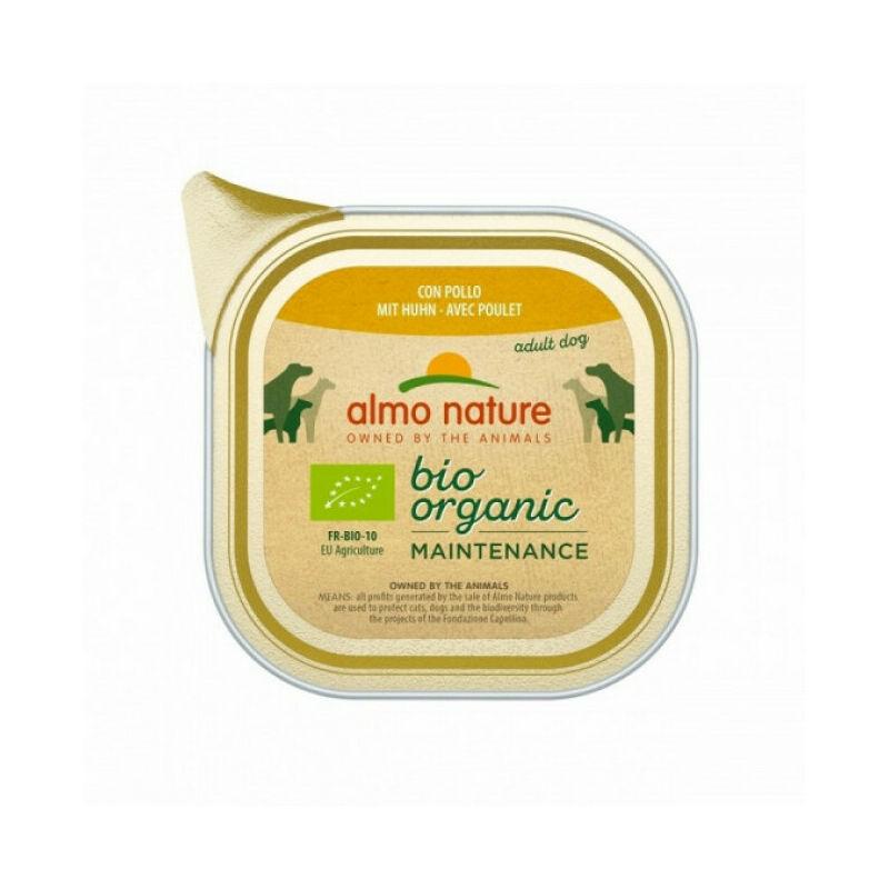 Almo Nature Pâtée pour chien Daily Menu Bio - lot 9 barquettes x 300 g Poulet et pomme de terre - Almo Nature