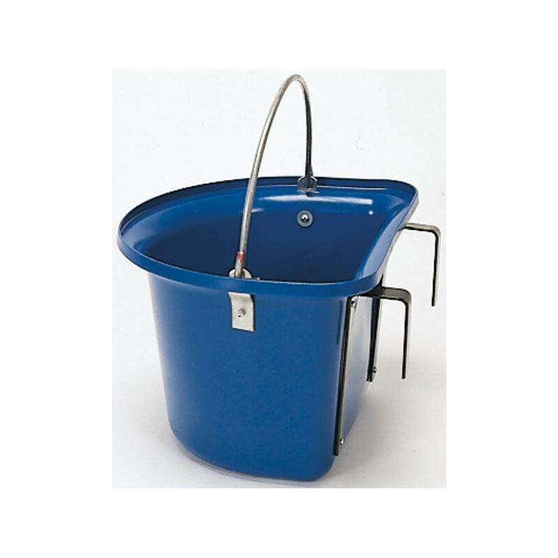 Seau mangeoire à suspendre avec anse de transport 12 L - bleu 32873