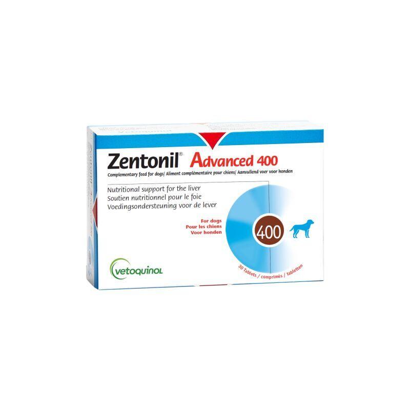 Vétoquinol - Zentonil Advanced Compléments alimentaires troubles hépatiques pour chiens 400 mg
