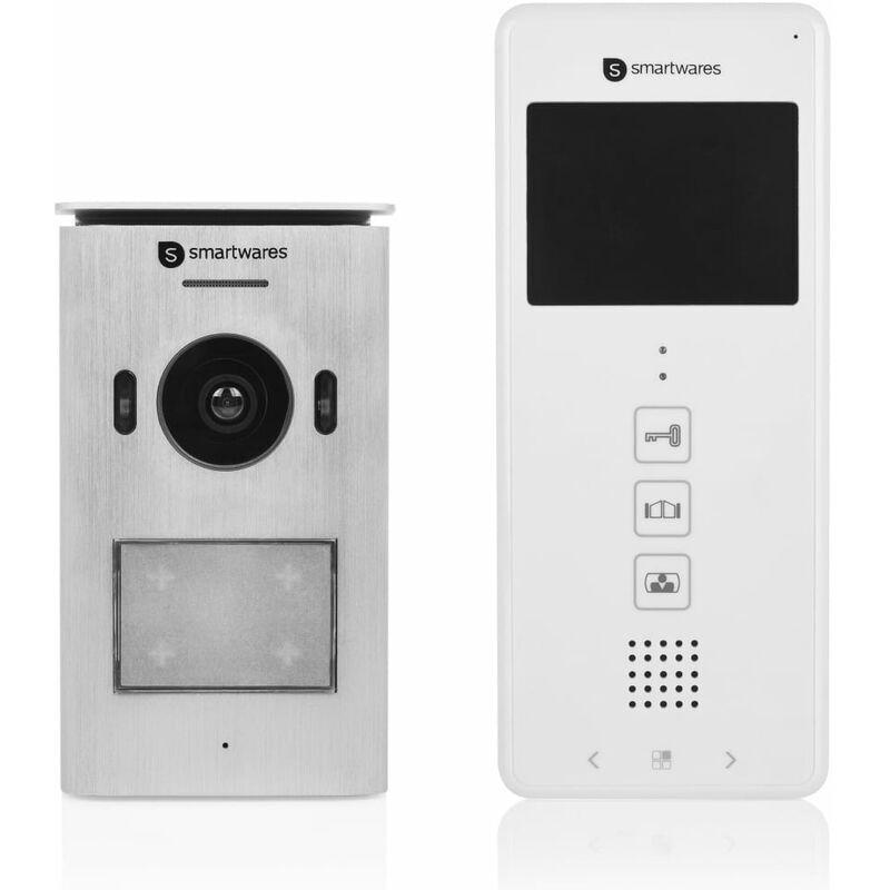 Smartwares Système d'interphone vidéo 1 appartement 20,5x8,6x2,1 cm - Smartwares