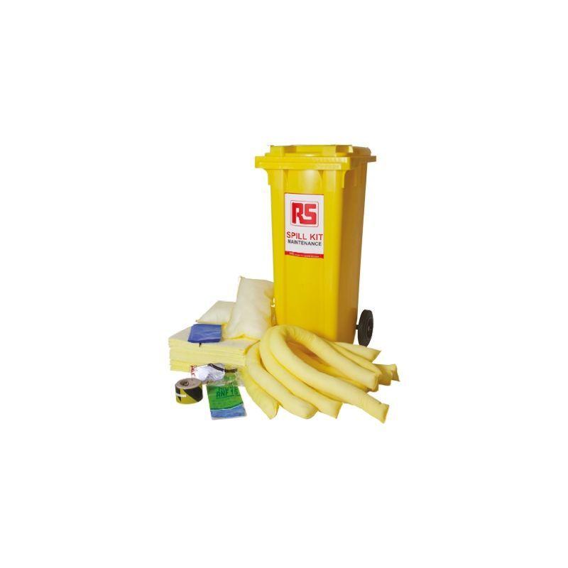 RS PRO Kit de déversement avec un contenu varié 500 x 735 x 1 065 mm pour Produit chimique