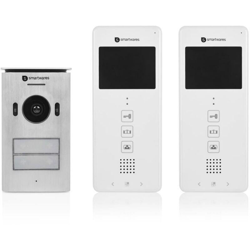 Smartwares Système d'interphone vidéo 2 appartements 20,5x8,6x2,1 cm