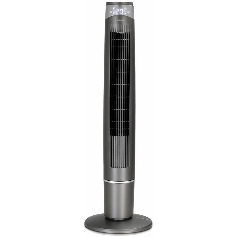 MONZANA Ventilateur colonne oscillant 90° 55W air 40 m³/min ioniseur écran LED 6 vitesses