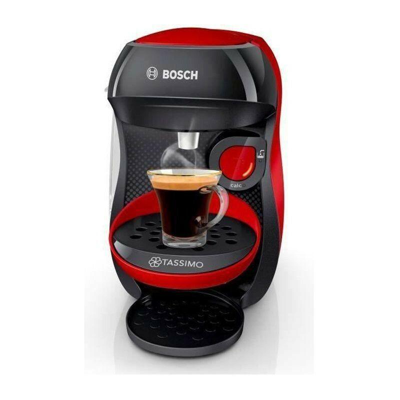 Bosch Machine a café multi-boissons - BOSCH - TASSIMO - T10 HAPPY - Rouge et anthracite