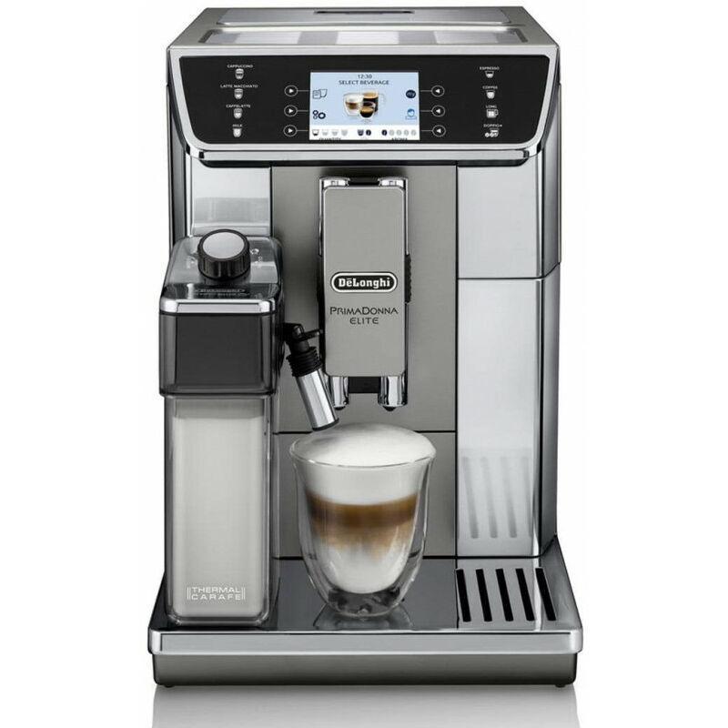 Delonghi De'Longhi De Longhi PrimaDonna Elite ECAM 650.55.MS - Machine à café 2-en-1 - 2 L - Café en grains - Café moulu - Broyeur intégré - 1450 W - Noir