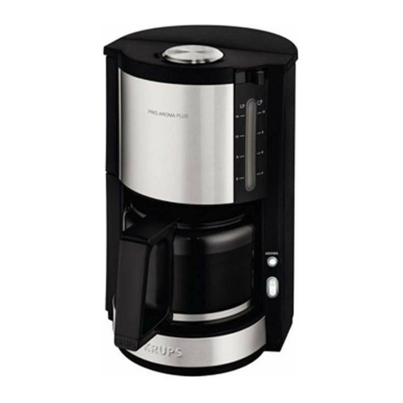 KRUPS KM321010 Pro Aroma Plus Cafetiere filtre électrique, 1,25 L soit 15 tasses, Machine a café, Noir et inox