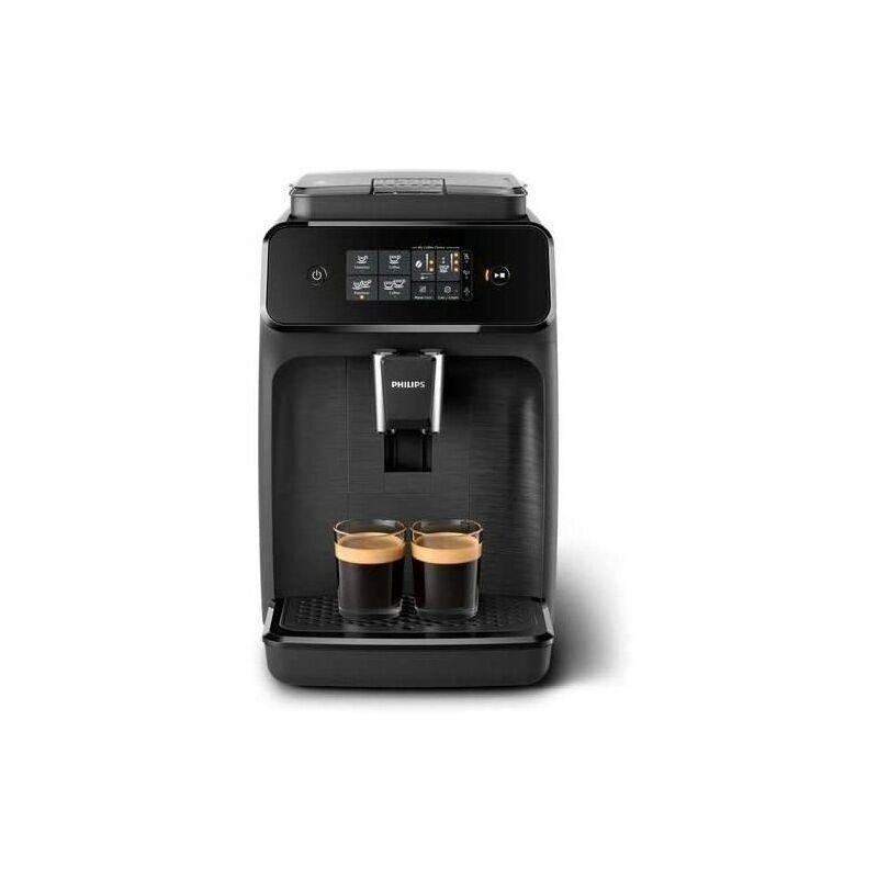 Philips Machine a café expresso a café grains EP1200 - Noir Mat - Avec broyeur - 2 boissons - Ecran tactile - AquaClean - Philips