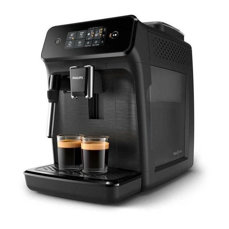 Philips EP1220 - Machine a café expresso a café grains avec broyeur - 2 boissons - Mousseur a lait - Ecran tactile - Noir Mat - Philips