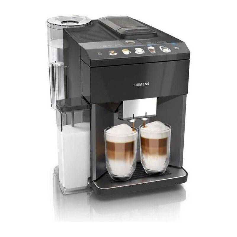 SIEMENS EQ.500 Machine a café 1500W -Carafe a lait 0,7L intégrée-9 programmes-3 temp.-Réservoir eau 1,7L - iAroma - Noir laqué