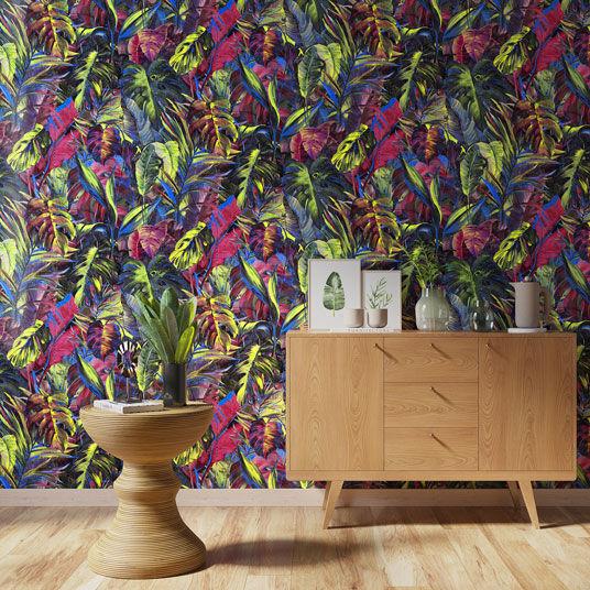 Papier peint vinyle sur intissé - Jungle - Feuilles exotiques - Rouleau(x)