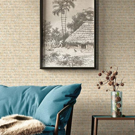Papier peint vinyle sur intissé - Rétro - Design Touareg sable - Rouleau(x)