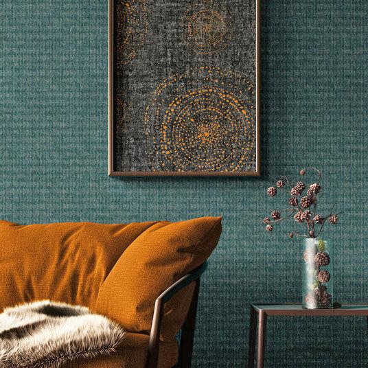 Papier peint vinyle sur intissé - Rose gold - Design Touareg bleu nuit - Rouleau(x)