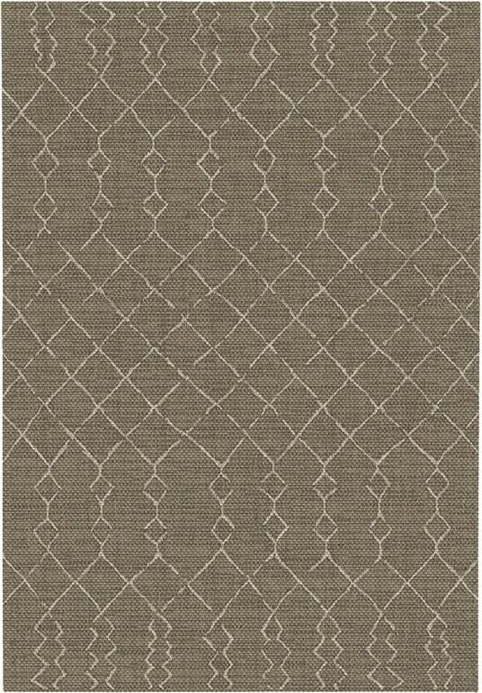 Tapis Salon / Terrasse - Scandinave - Marron foncé - 80 x 150 cm