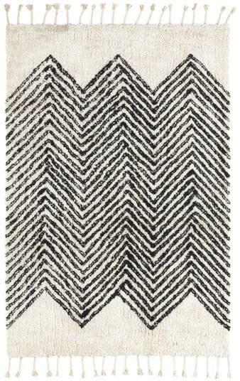 Tapis style Berbère avec franges - Arrow blanc cassé - 200 x 290 cm