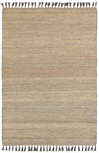 Tapis naturel en jute et coton - Néo-ethnique marron - 160 x 230 cm