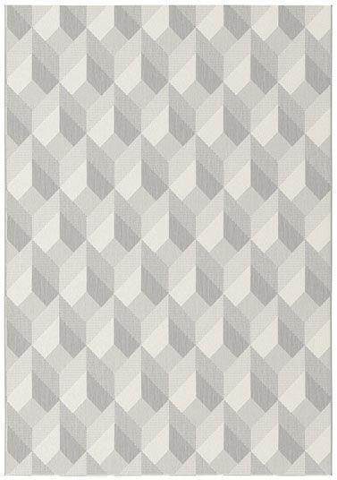 Tapis Design Essenza Grège - Cubes 3D - 120 x 170 cm