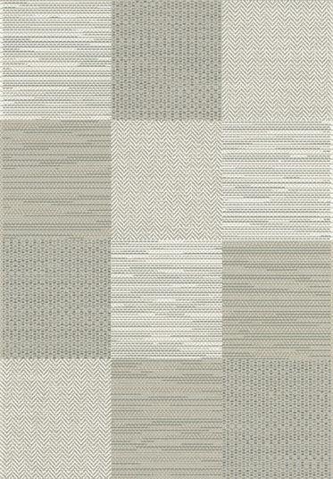 Tapis Moderne Prisma Grège - Carrés - 200 x 290 cm