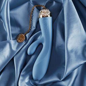 ZALO Stimulateur Rabbit Connecté Versailles Rosalie - Couleur : Bleu - Publicité