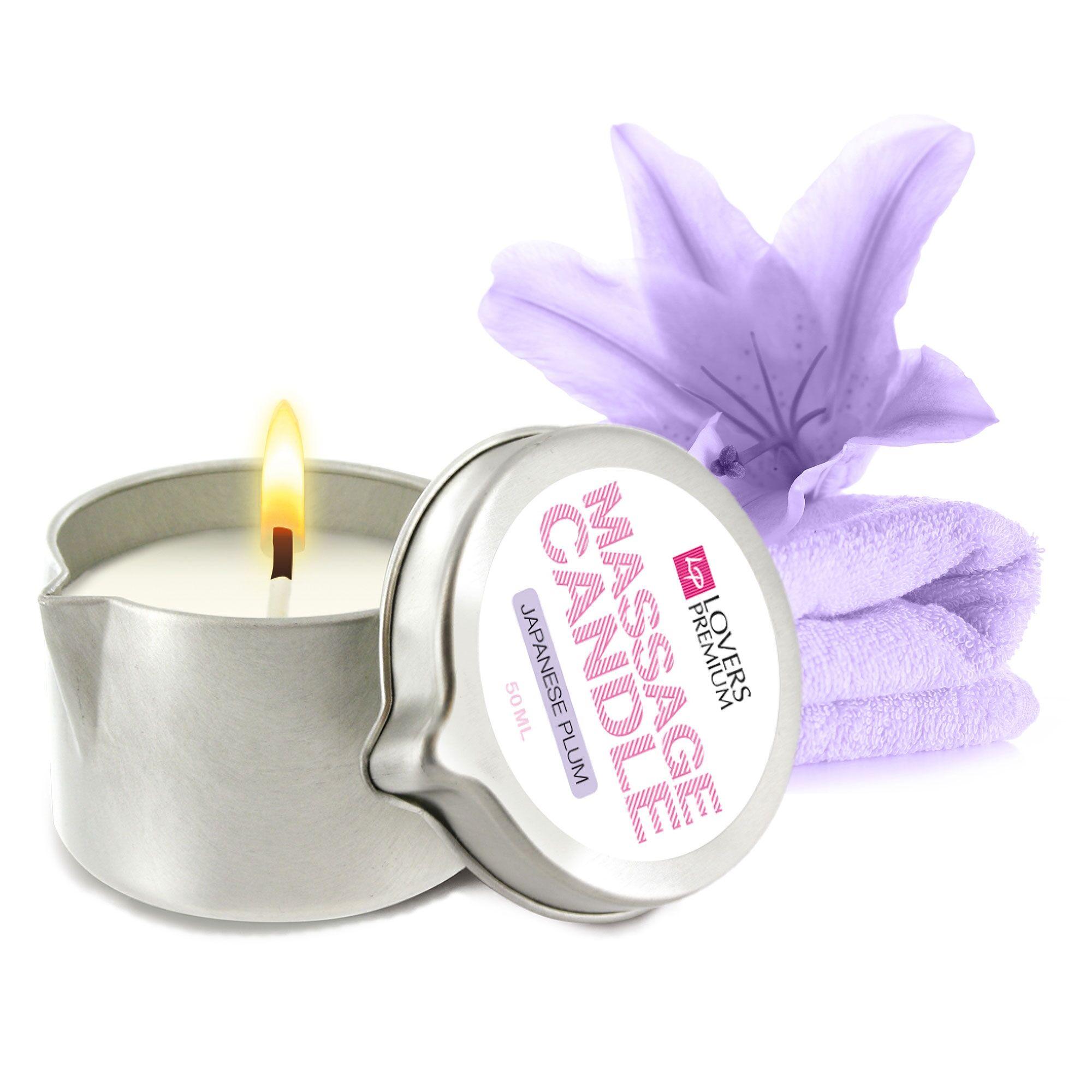 LoversPremium Bougie de Massage Mini Prune Japonaise