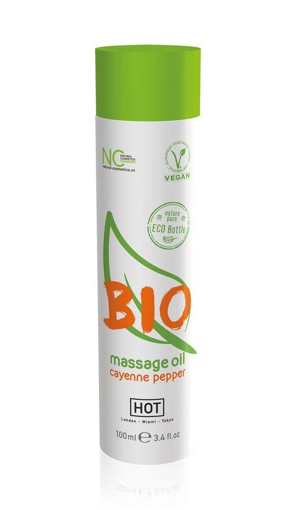 HOT Huile de Massage Bio Piment de Cayenne 100 ml