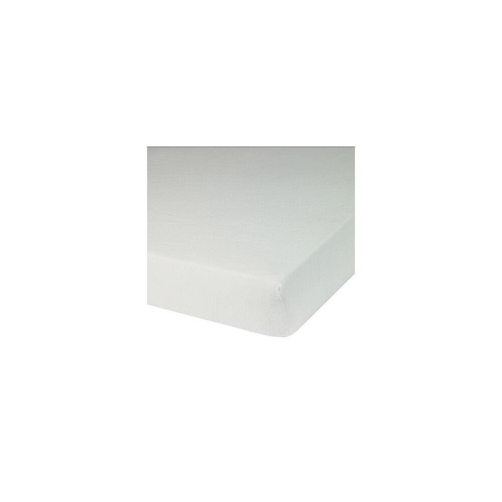 Blanc des Vosges Protège Matelas UNI Blanc Molleton Supérieur 100% Coton 80x190