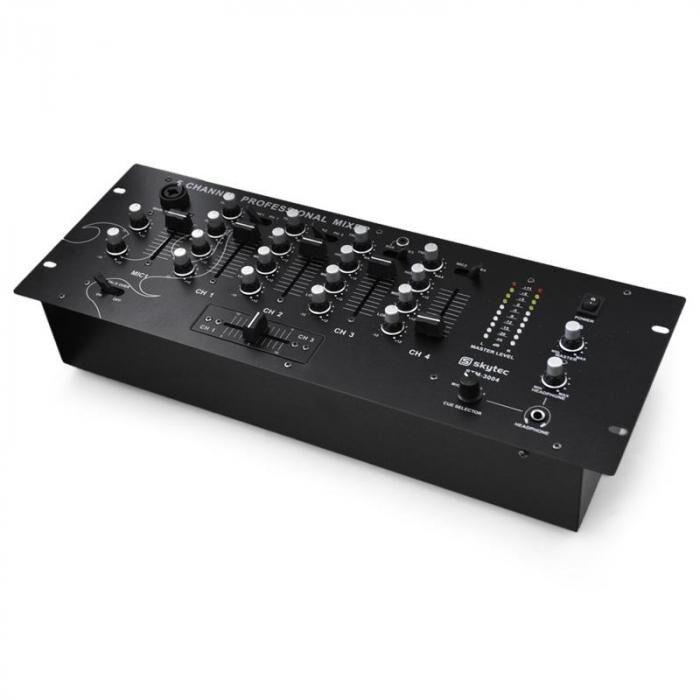 Skytec Mixer DJ 4 canaux stm3004 fonction pré-écoute rack