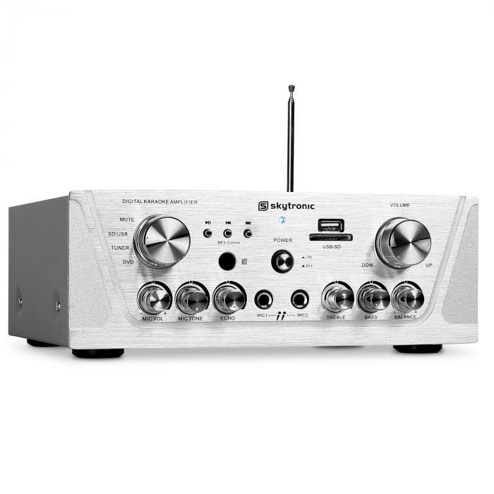 Skytronic Ampli HiFi Karaoké Receiver Stereo MP3 USB SD