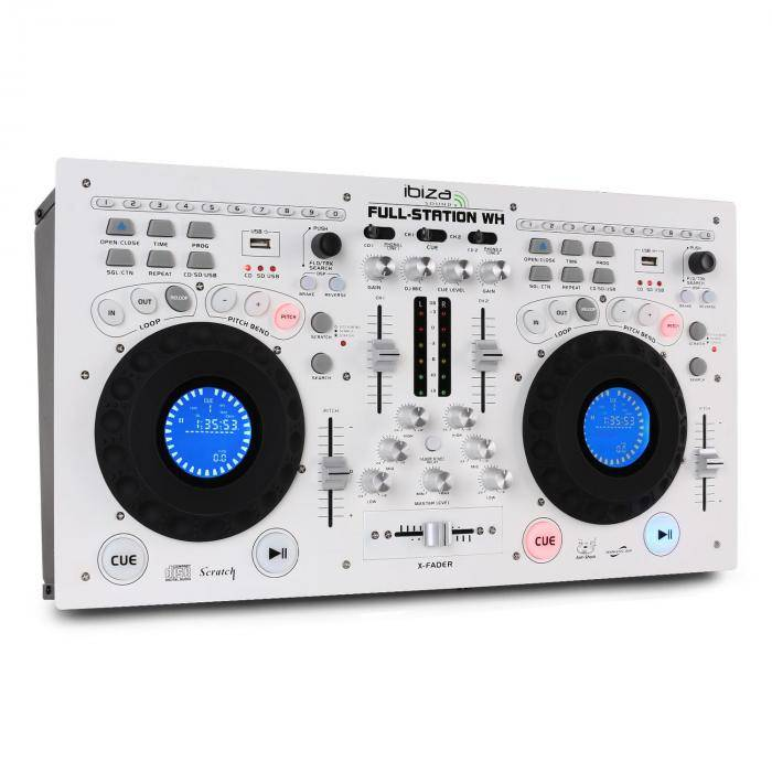 Ibiza Full Station DJ Set double lecteur CD scratch USB MP3