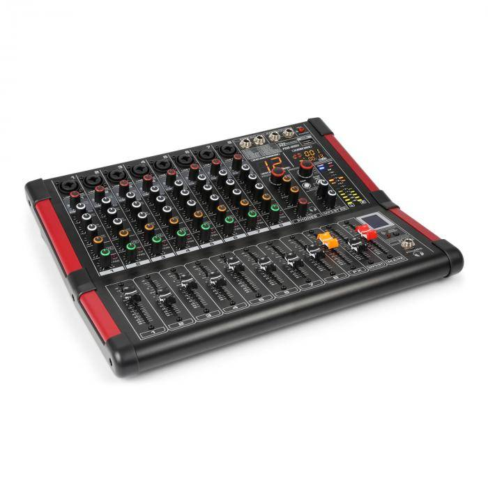 Power Dynamics PDM-M804 Music Mixer 8 entrées micro processeur Multi FX 24 bits