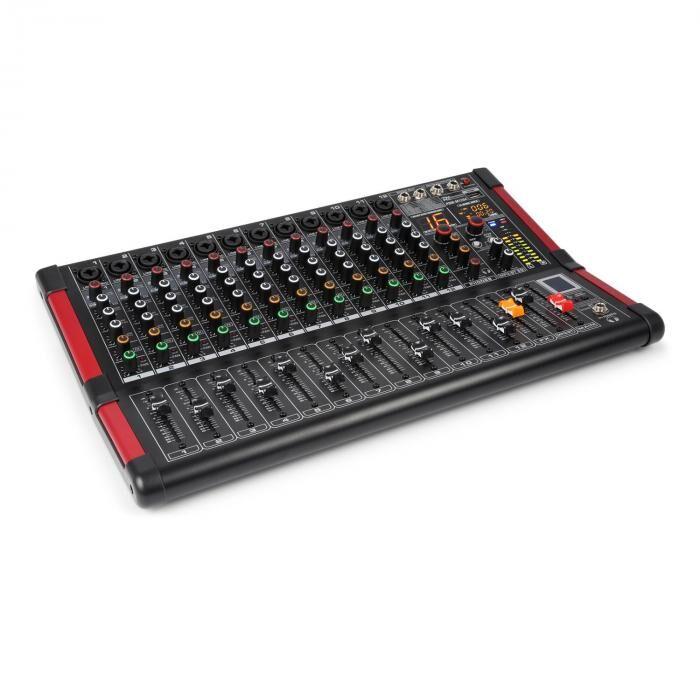 Power Dynamics PDM-M1204 Music Mixer DJ 12 entrées micro Processeur Multi FX