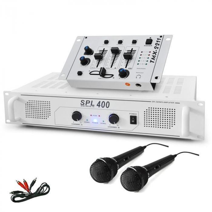 "Electronic-Star SET DJ ""DJ-94"" Ampli Table de mixage Microphone 1200W"