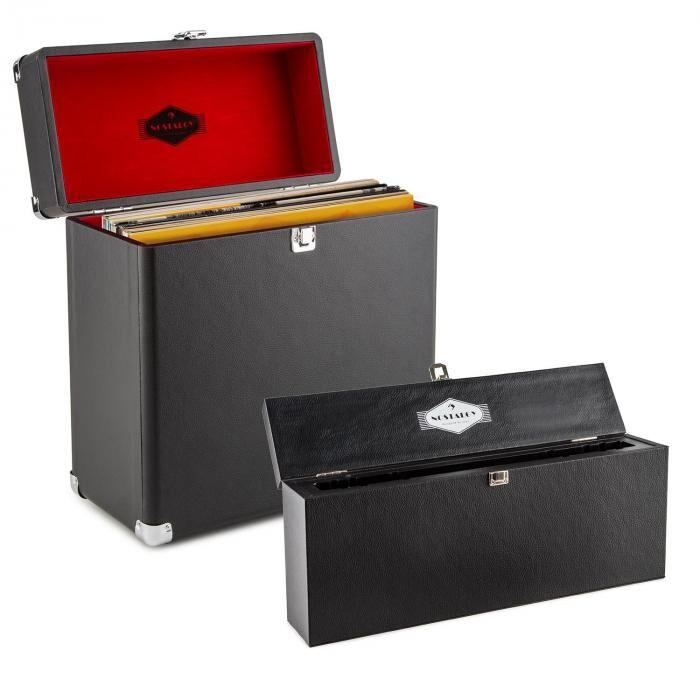 Auna Vinyl Collector Set rangement nettoyage & machine à laver Valise à vinyles