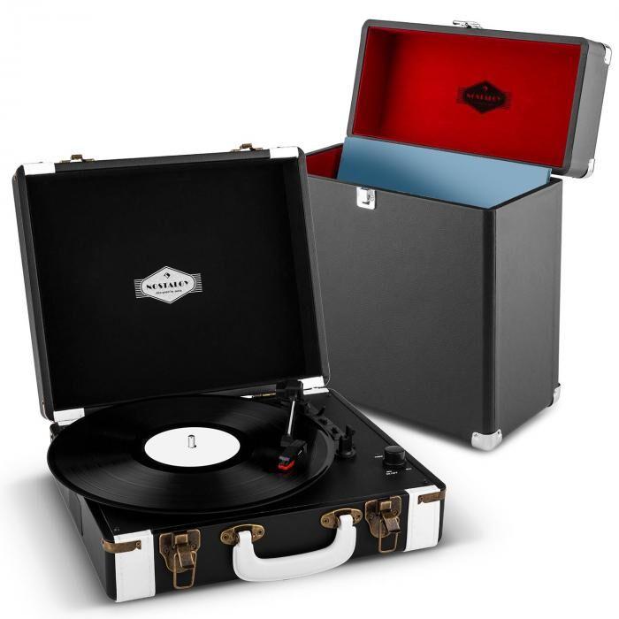 Auna Jerry Lee Record Collector Set Tourne-disque rétro Valise pour vinyles - no