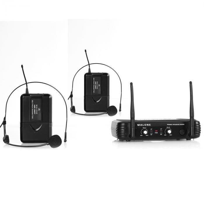Malone UHF-250 Duo2 Set micro UHF sans fil 2 canaux