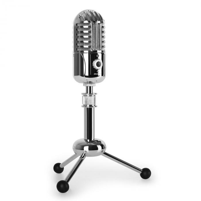 Auna CM280 Microphone à condensateur USB argent A/D