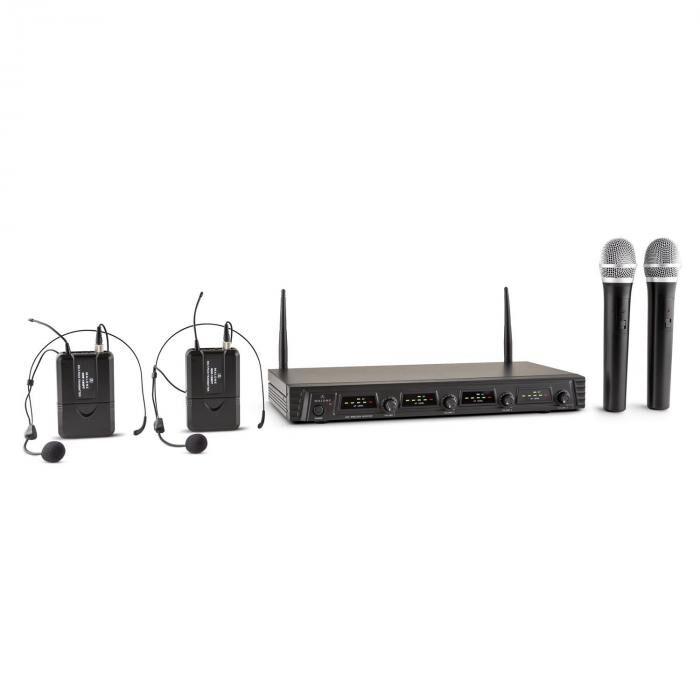 Malone Duett Quartett Fix V2 set de micro UHF sans fil 4 canaux 50m de portée