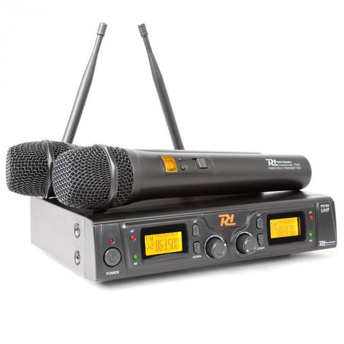Power Dynamics PD781 Système sans fil avec Microphone 2 x 8 canaux UHF