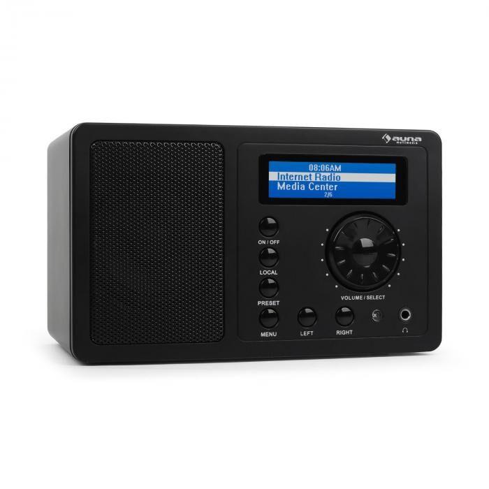 Auna IR-130 - Radio internet pour streaming réseau sans fil WiFi 8000 stations