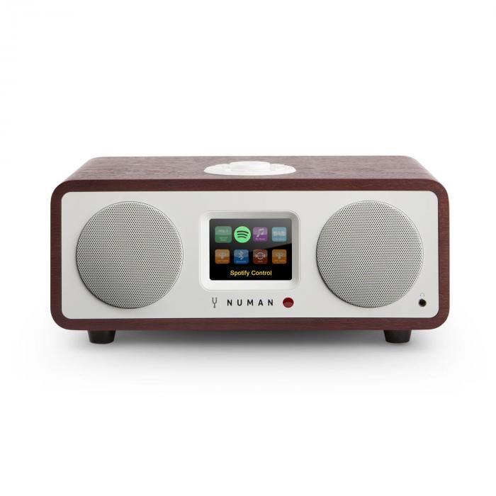 Numan One – 2.1 Internet Radio 20W Bluetooth Spotify Connect DAB+ - bois de rose
