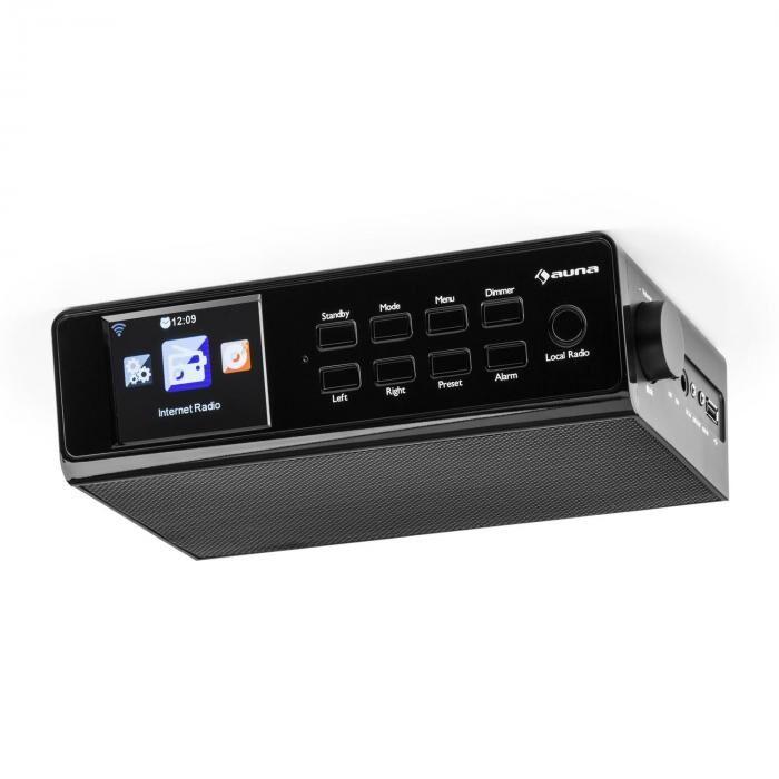 """Auna KR-190 Radio Internet encastrable WiFi Contrôle par application 3,2"""" Ecran TFT - noir"""