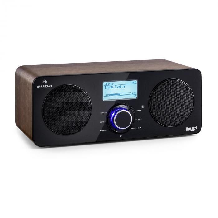 Auna Worldwide Radio internet Spotify Connect contrôle par app marron
