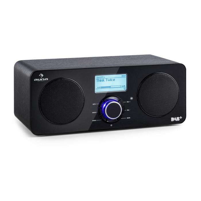 Auna Worldwide Radio internet Spotify Connect contrôle par app - noir
