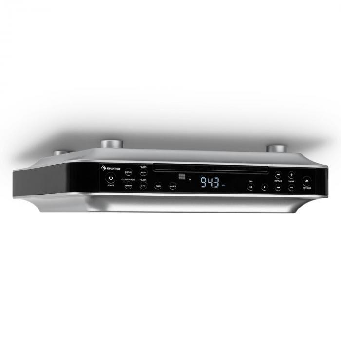Auna KRCD-100 BT Radio de cuisine encastrable Bluetooth CD MP3 AUX - noir