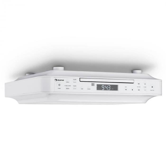 Auna KRCD-100 BT Radio de cuisine encastrable Bluetooth CD MP3 AUX - blanc