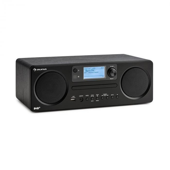 Auna Worldwide CD Radio InternetSpotify Connect contrôle par application Bluetooth - noire