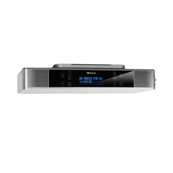 Auna KR-140 Radio de cuisine Bluetooth tuner DAB+ FM LED - argent