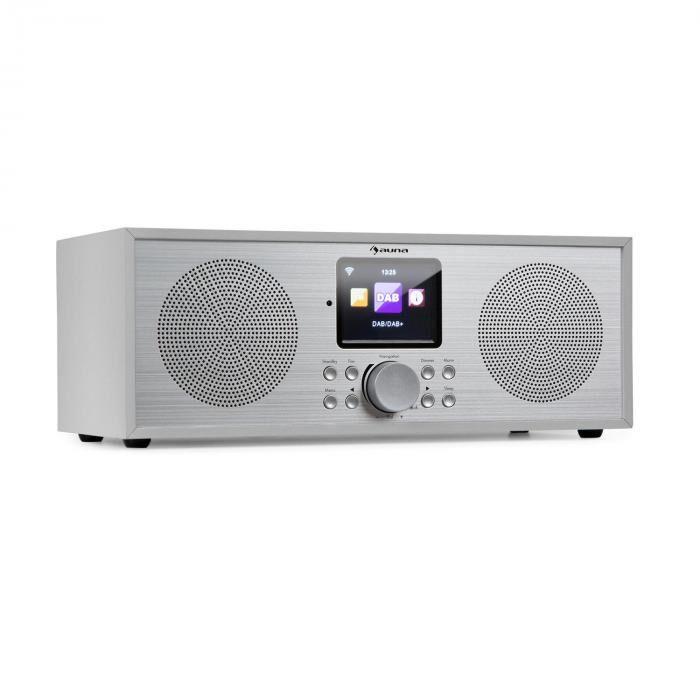 Auna Silver Star radio Internet stéréo DAB+/FM, WiFi, BT, DAB+/FM, blanche