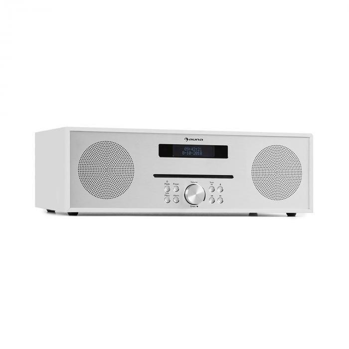 Auna Silver Star CD-FM Lecteur CD FM Slot-In Bluetooth Alu 2x20 W max. - blanche