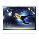 FrontStage Electronic Star Ecran de projection manuel 203cm 150x150cm 1:1